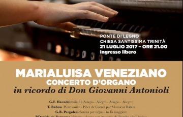 Concerto d'organo di Marialuisa Veneziano nella chiesa di Ponte di Legno