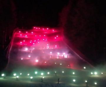 Fiaccolata e spettacolo pirotecnico a Ponte di Legno