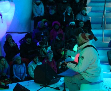Ice Music Festival, la Bandabardò ha scaldato l'EQ Ice Dome a Passo Paradiso
